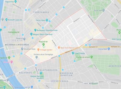dónde hospedarse en budapest - Erzsébetváros