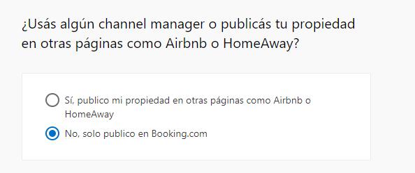 Formulario channel manager, airbnb o homeaway - cómo anunciar mi apartamento en booking