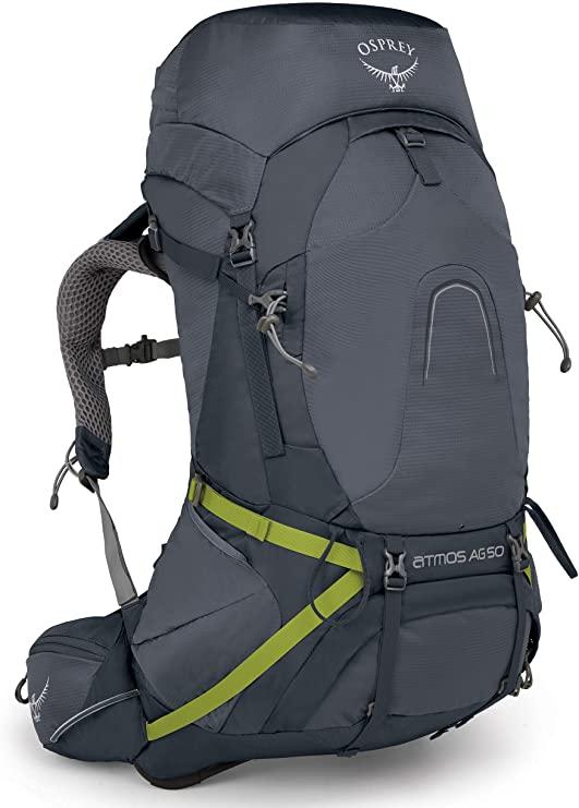 mochilas para mochileros - Osprey Atmos AG 50, mochila de hombre
